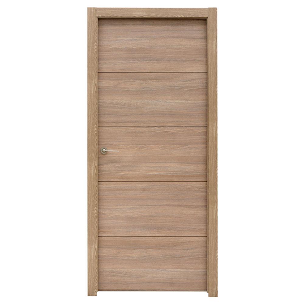 Puerta de interior maciza berna nogal ref 17992821 - Leroy merlin puertas de interior ...