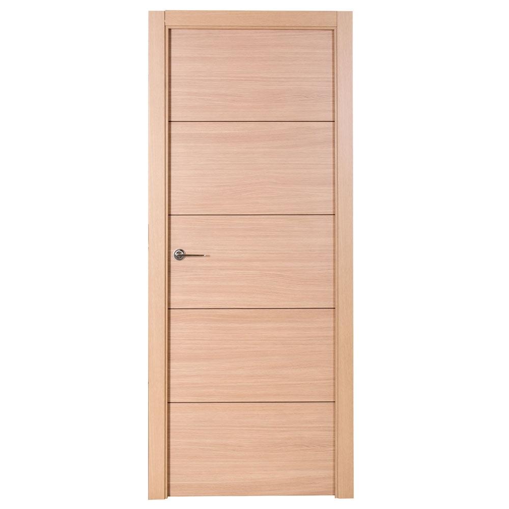 Puerta de interior maciza berna roble ref 17891125 for Precio puertas de roble de interior