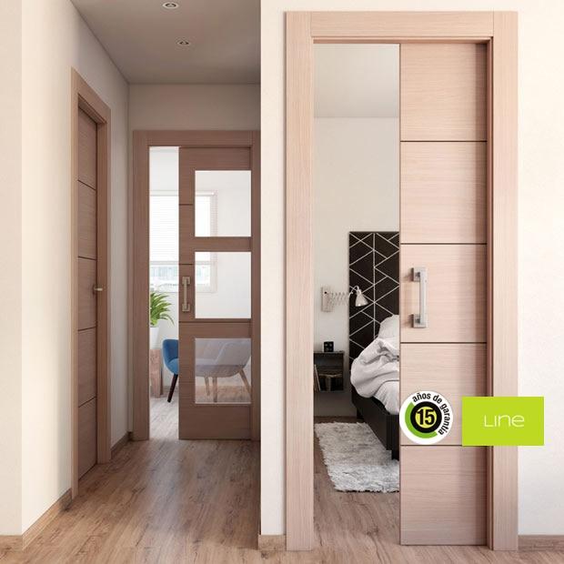 Puertas de interior de madera leroy merlin for Puertas de roble interior