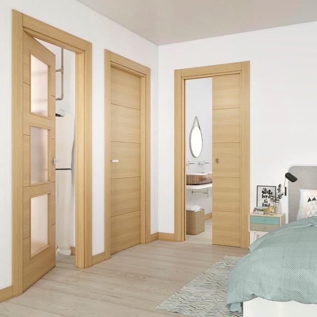 Puertas leroy merlin madera beautiful imgenes de puertas for Puertas de madera para dormitorios