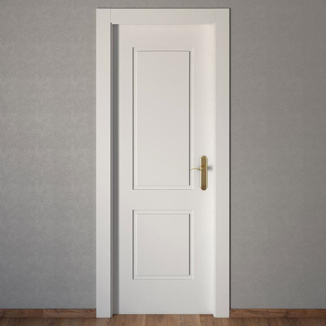 Puerta de interior bonn blanca ref 14132916 leroy merlin for Puertas leroy merlin precios