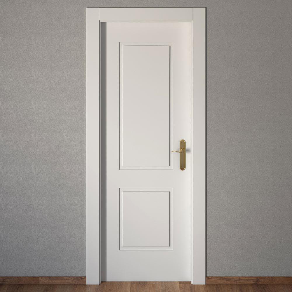 Puerta de interior bonn blanca ref 15031226 leroy merlin for Puertas macizas blancas