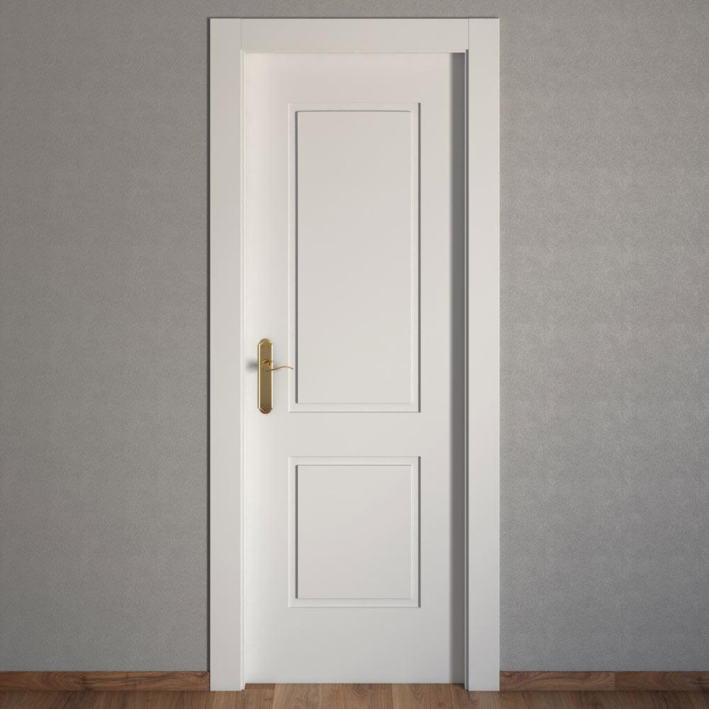 Puerta de interior bonn blanca ref 15031240 leroy merlin for Puertas macizas blancas