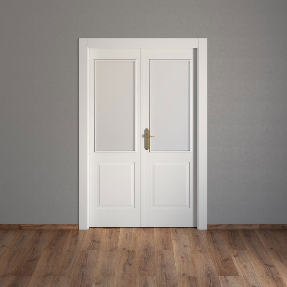 Puerta de interior con cristal bonn blanca ref 15718045 - Puertas interior con cristal ...