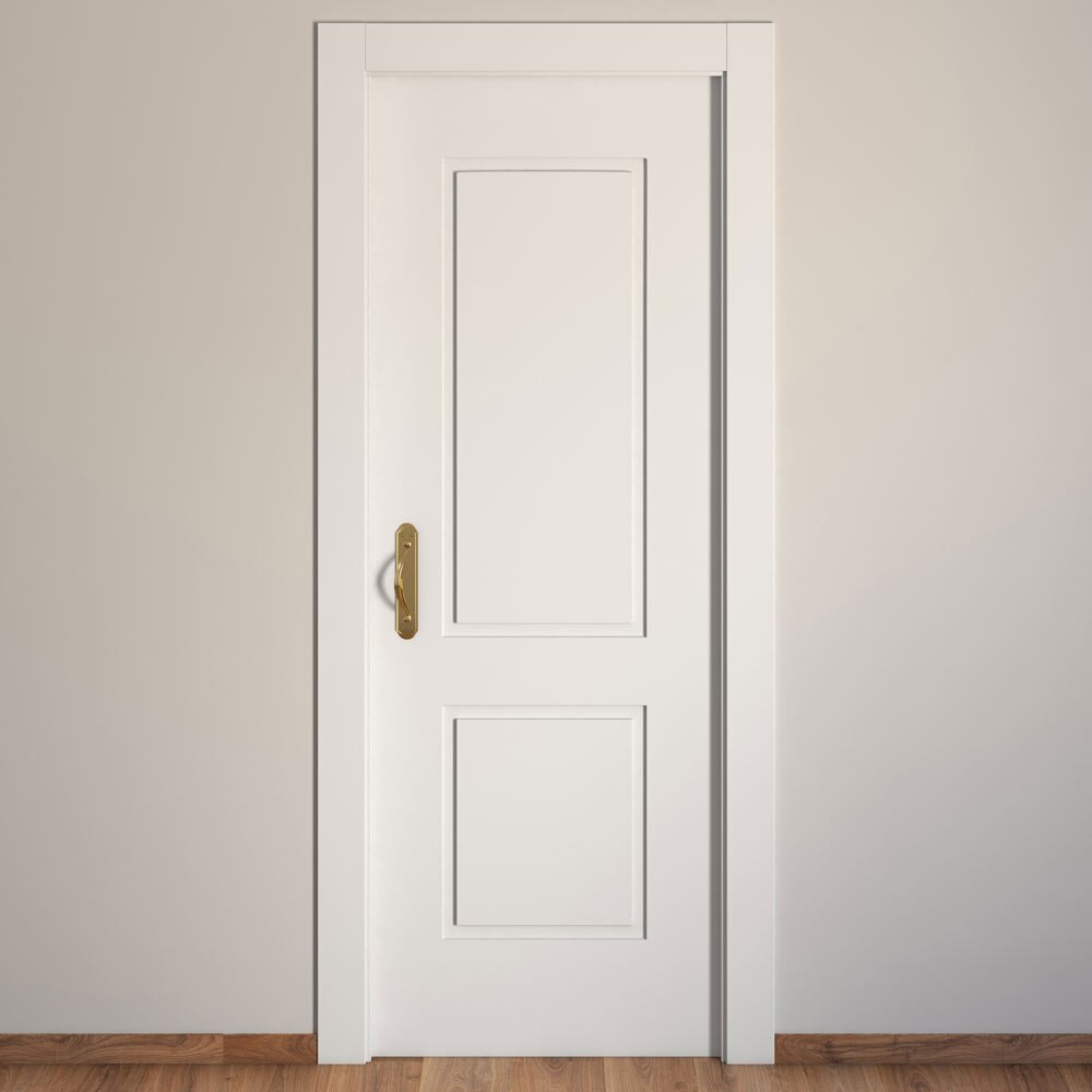 Puerta de interior hueca bonn blanca ref 15719200 leroy - Puertas lacadas en blanco leroy merlin ...