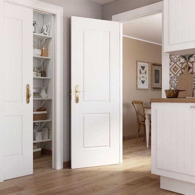 Puerta de interior hueca bonn blanca ref 15719200 leroy - Puertas de entrada leroy merlin ...