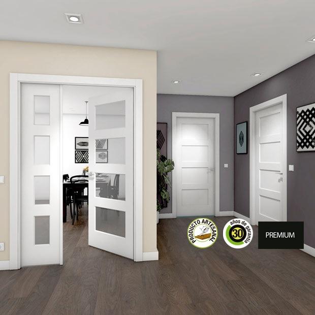Puertas de interior de madera leroy merlin - Puertas de casa blancas ...