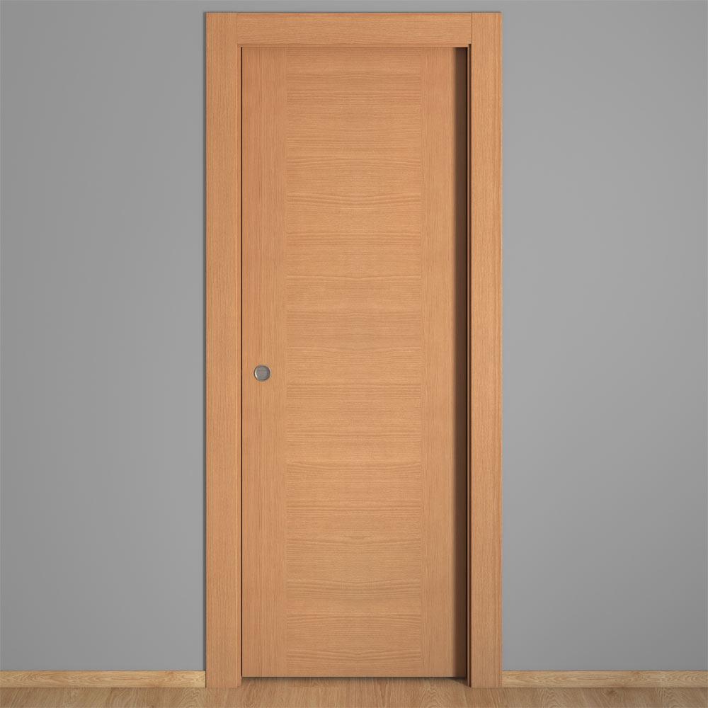 Puerta de interior hueca canarias haya ref 16150890 - Leroy merlin puertas de interior ...
