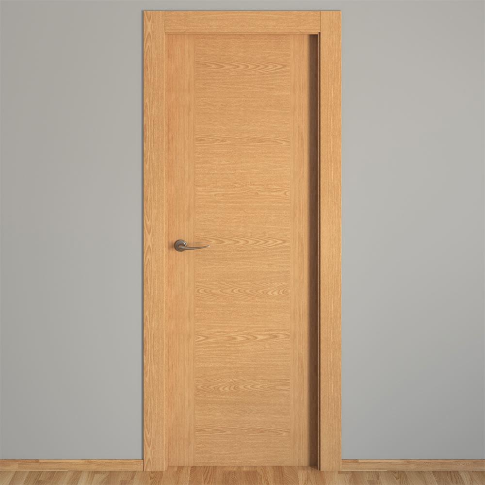 Puerta de interior canarias roble ref 16150911 leroy merlin - Puerta de roble ...