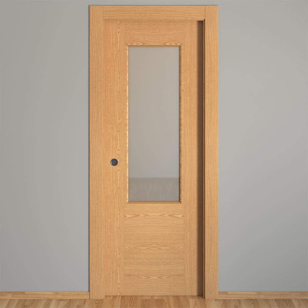 Puertas de roble con cristal materiales de construcci n - Corte tableros a medida leroy merlin ...