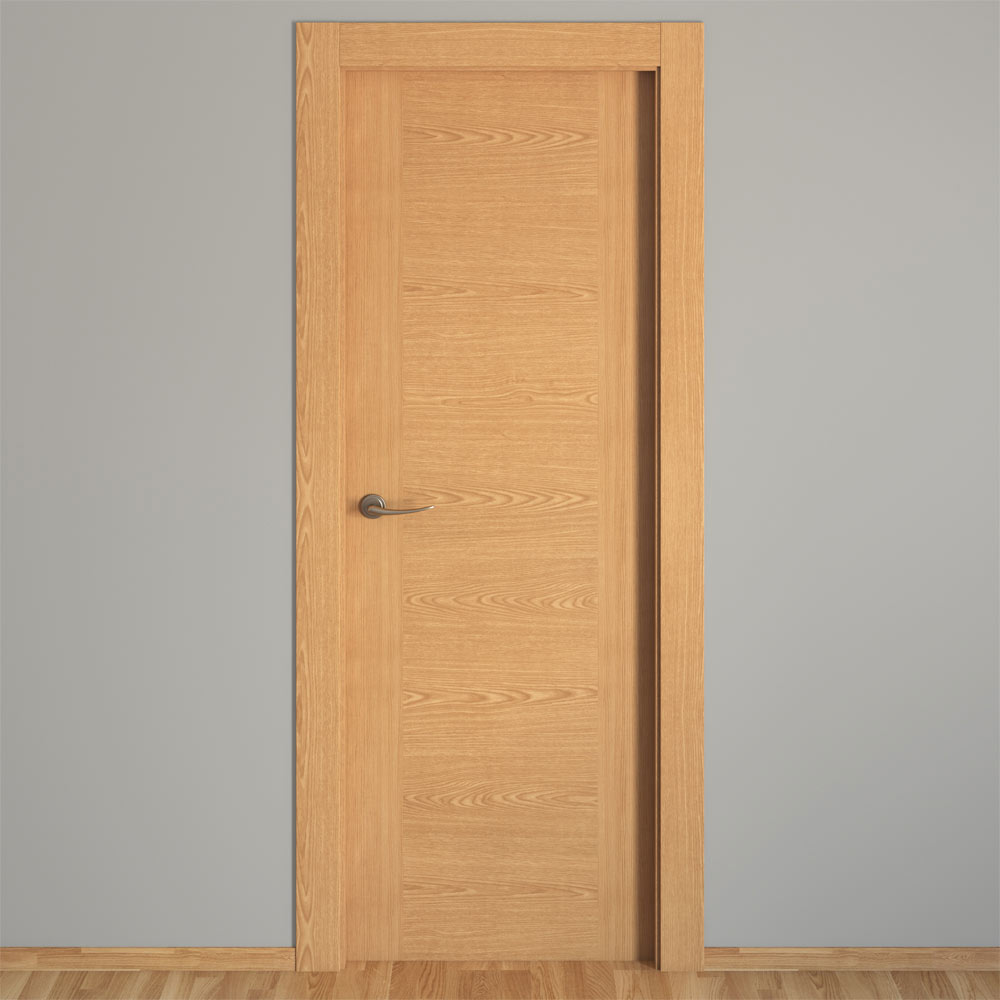 Puerta de interior canarias roble ref 16152024 leroy merlin - Puerta de roble ...
