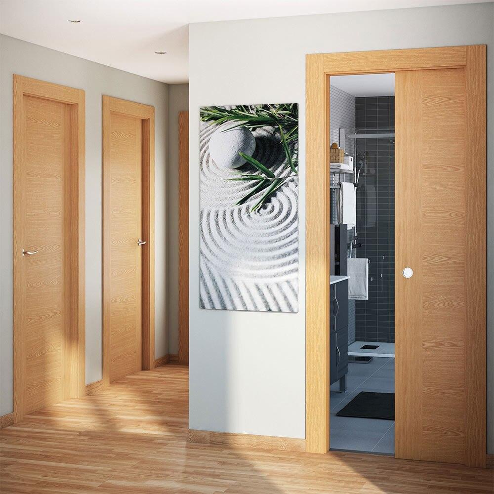 Puerta de interior canarias roble ref 16152024 leroy merlin for Puertas de aluminio leroy merlin