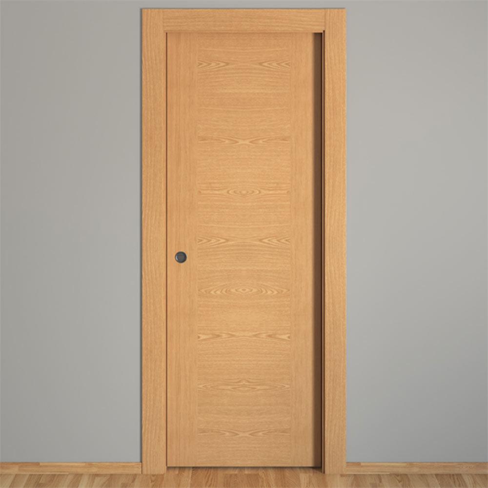Puerta de interior hueca canarias roble ref 16152045 for Precio puertas de roble de interior