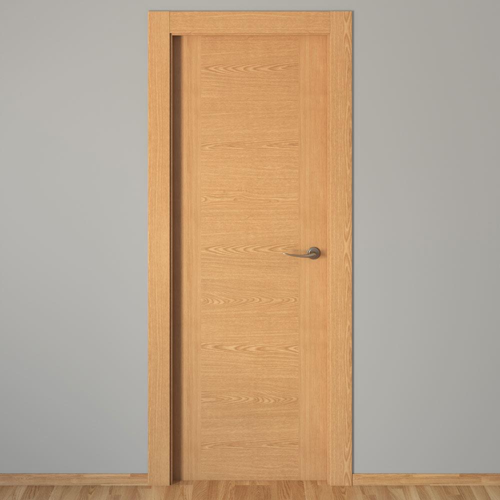 Puerta de interior canarias roble ref 16152206 leroy merlin for Puertas de roble interior