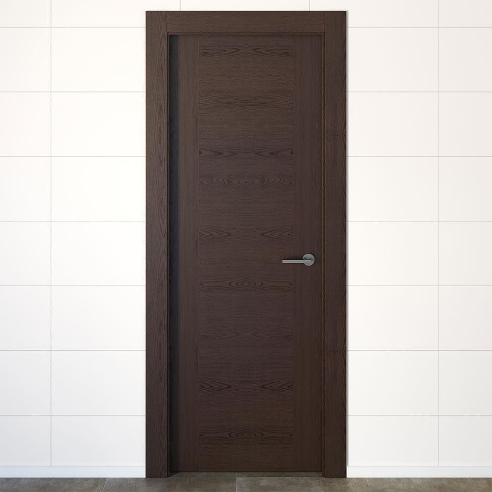 Puerta de interior hueca canarias wengue ref 17978681 leroy merlin - Puertas de bano leroy merlin ...