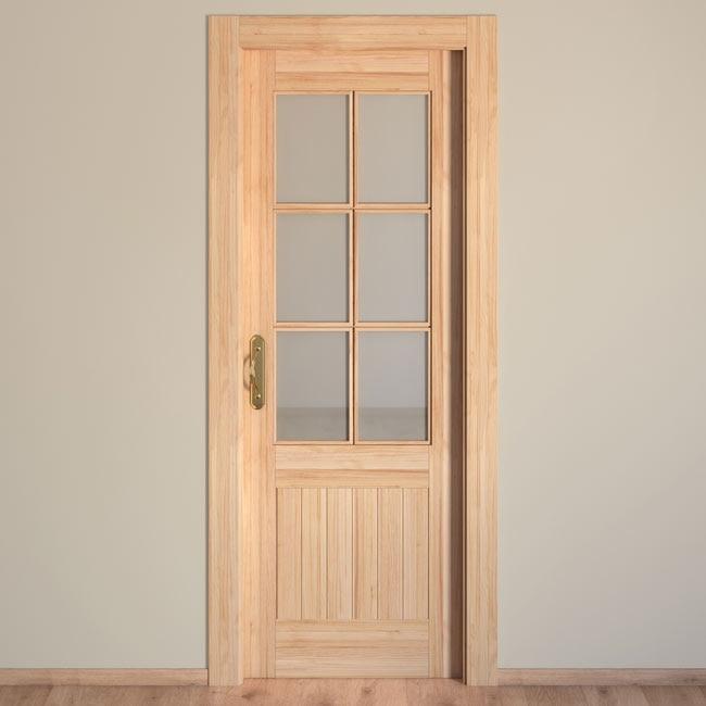 Puerta de interior con cristal cuenca pino ref 15720432 - Vinilo cristal leroy merlin ...