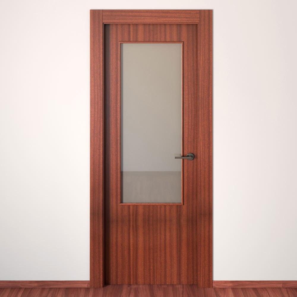 Puerta de interior con cristal grecia sapelly ref - Puertas interior cristal ...