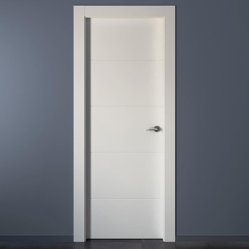 Puerta de interior holanda blanca ref 15431906 leroy merlin for Precio puertas blancas