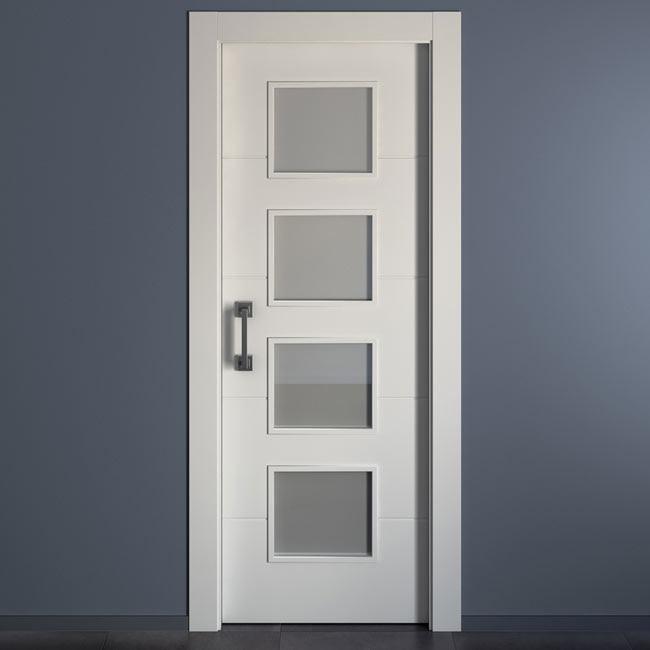 Puerta de interior con cristal holanda blanca ref 15956521 leroy merlin - Cristal grip leroy merlin ...