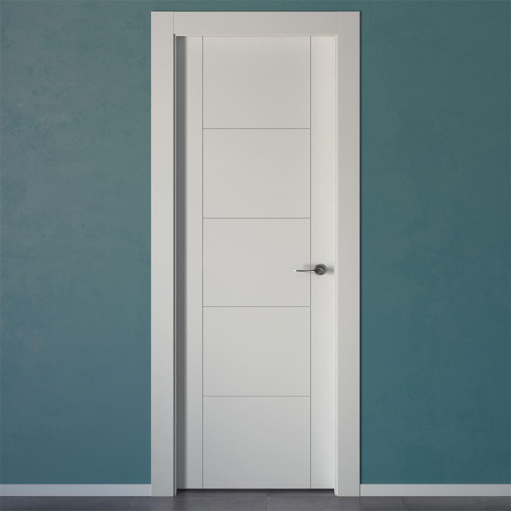 Puerta de interior hungria blanca ref 14657790 leroy merlin for Puertas interior blancas economicas