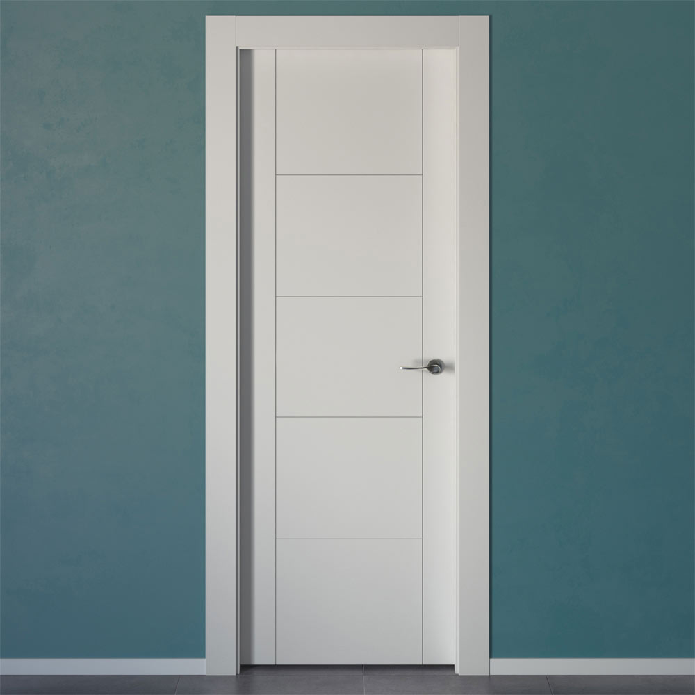 Puerta de interior hungria blanca ref 14858102 leroy merlin for Puertas lacadas blancas baratas