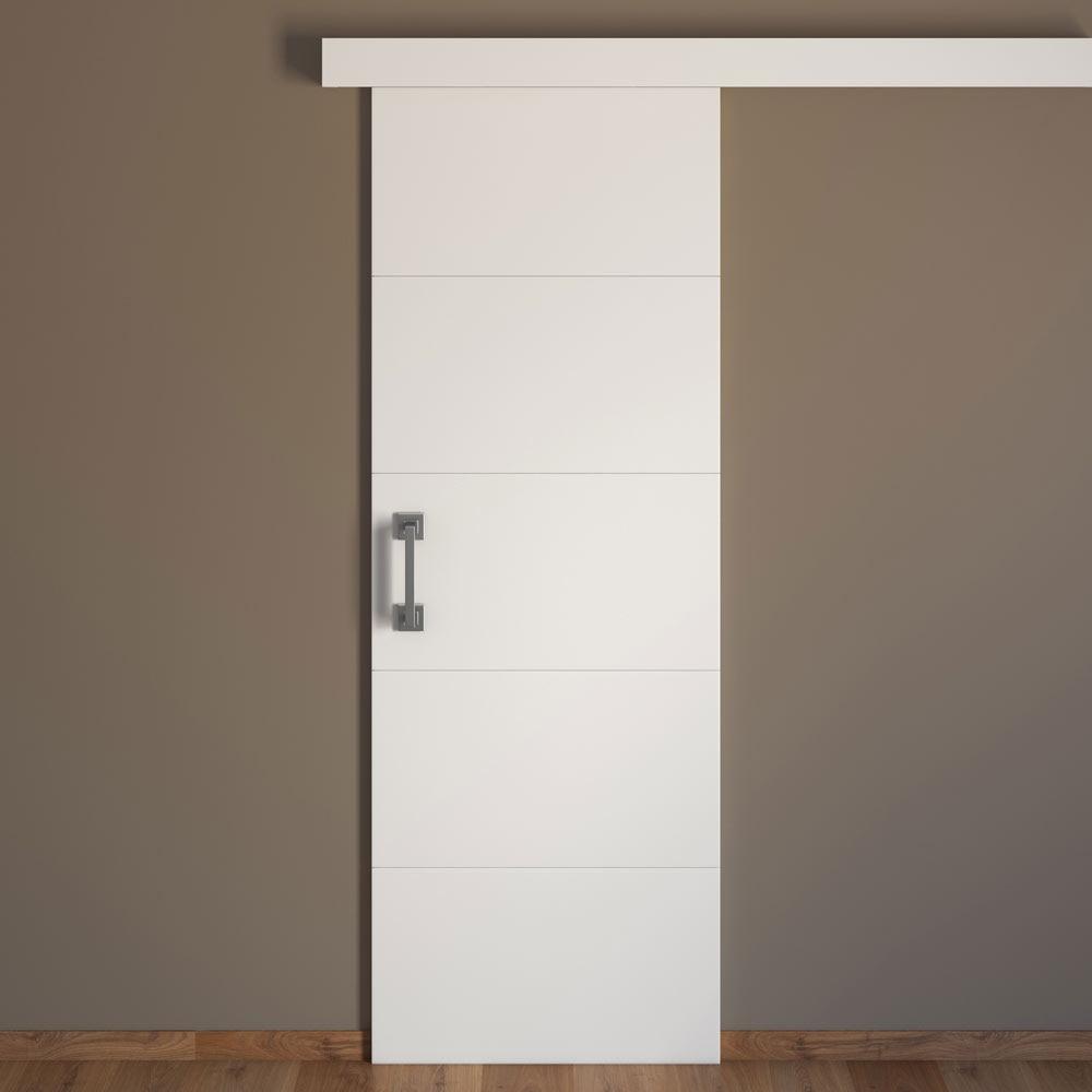 Puerta de interior maciza artens lucerna blanca ref for Puertas de madera blancas para exterior