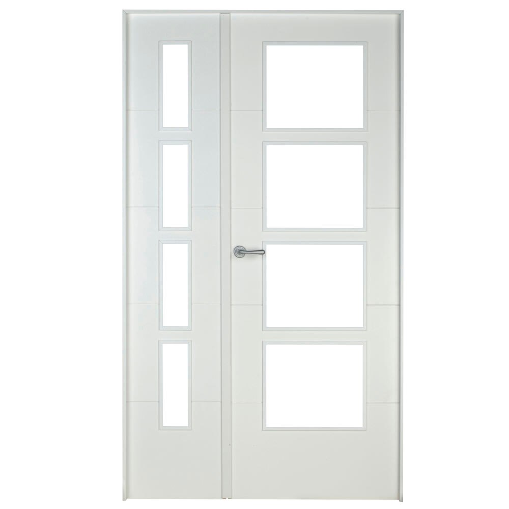 Puerta de interior con cristal artens lucerna blanca ref for Puerta de cristal abatible