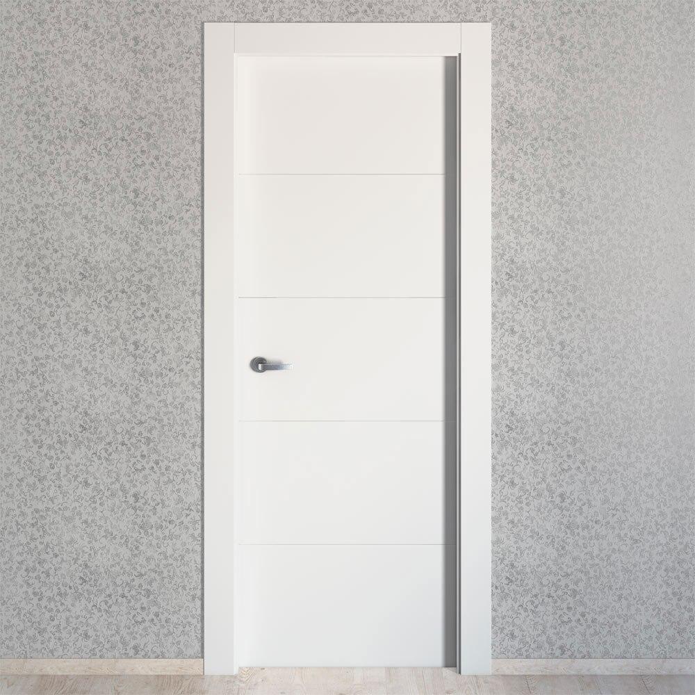 Puerta de interior maciza artens lucerna plus blanca ref for Puertas rusticas exterior leroy merlin