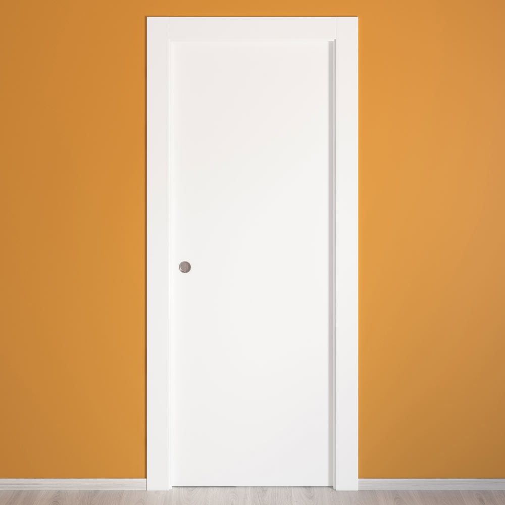 Puerta de interior hueca lyon blanca ref 14675346 leroy - Puertas de paso leroy merlin ...