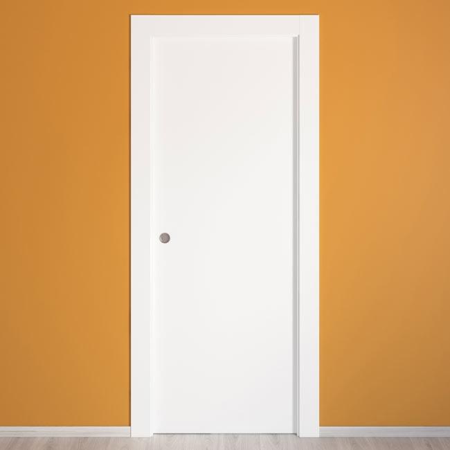 Puerta de interior hueca lyon blanca ref 14675346 leroy - Puertas de aluminio leroy merlin ...