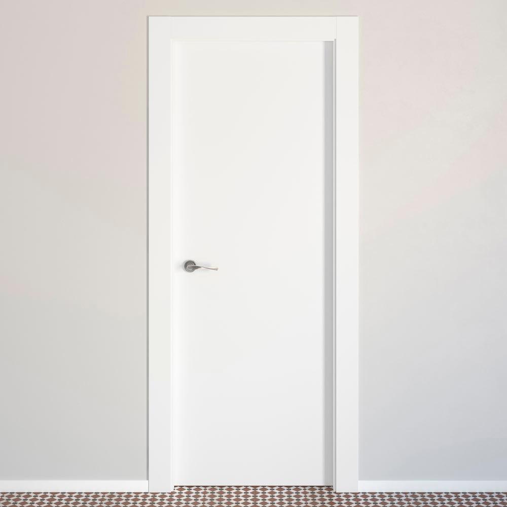 puerta de interior lyon blanca ref 14675416 leroy merlin. Black Bedroom Furniture Sets. Home Design Ideas