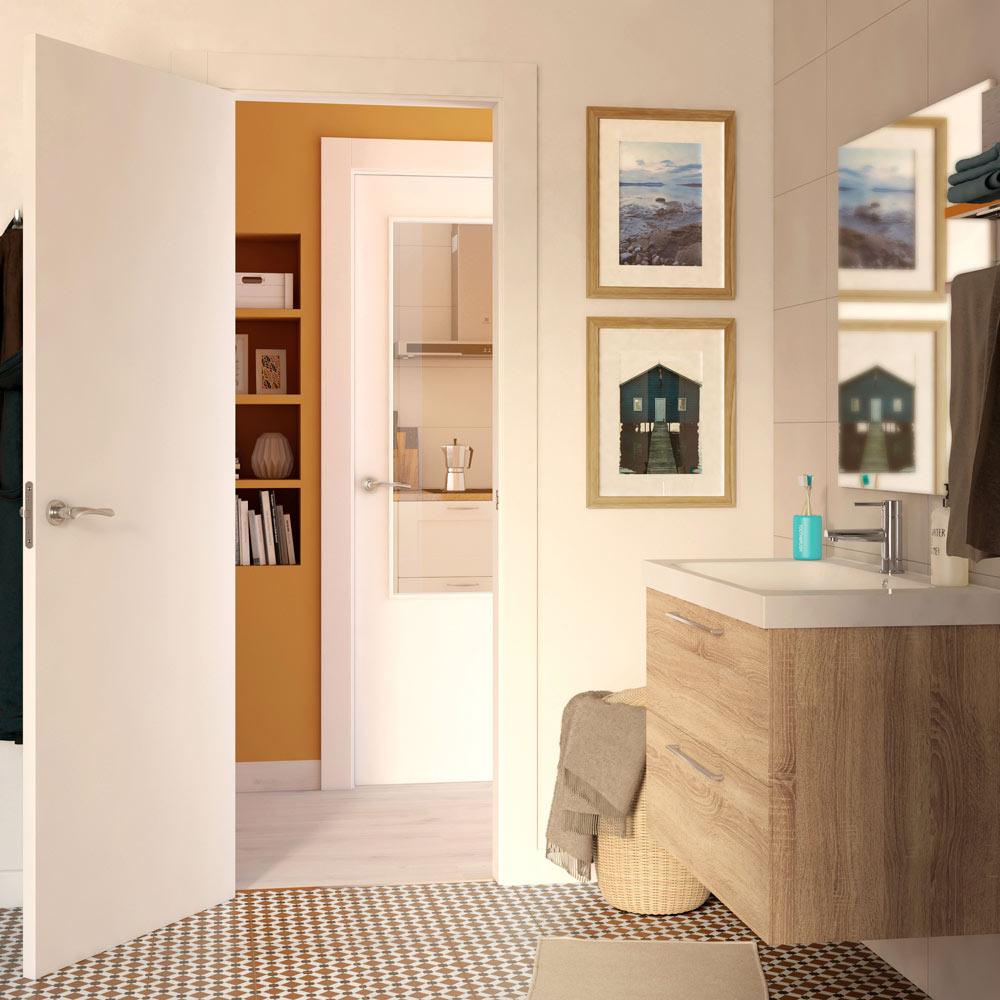 puerta de interior lyon blanca ref 14675430 leroy merlin. Black Bedroom Furniture Sets. Home Design Ideas