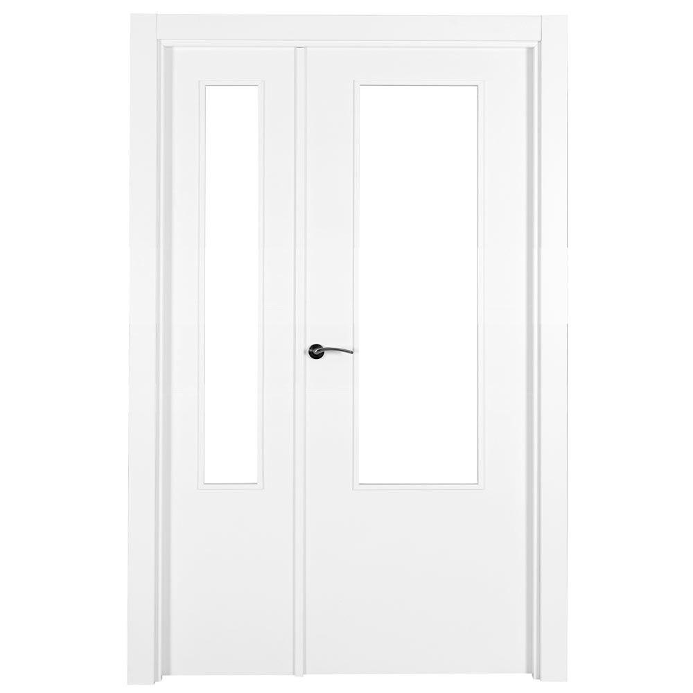Puerta de interior con cristal lyon blanca ref 15718500 leroy merlin - Le roy merlin lyon ...