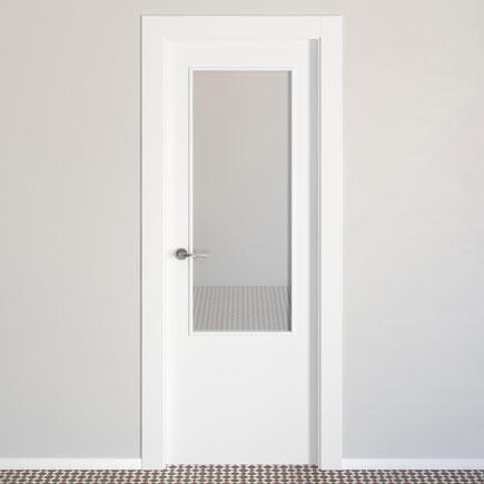 puerta de interior con cristal lyon blanca ref 15718626 leroy merlin. Black Bedroom Furniture Sets. Home Design Ideas