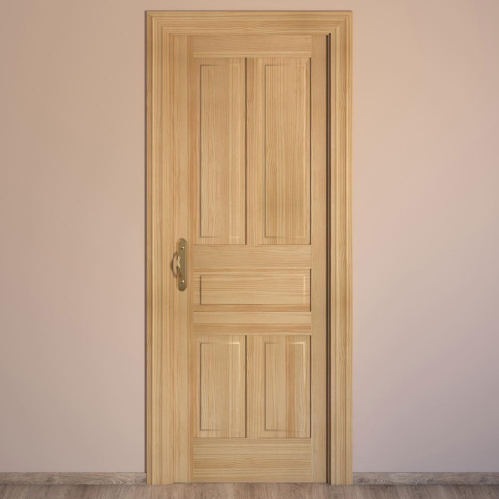 Puertas interior pino materiales de construcci n para la - Puertas de madera interiores precios ...