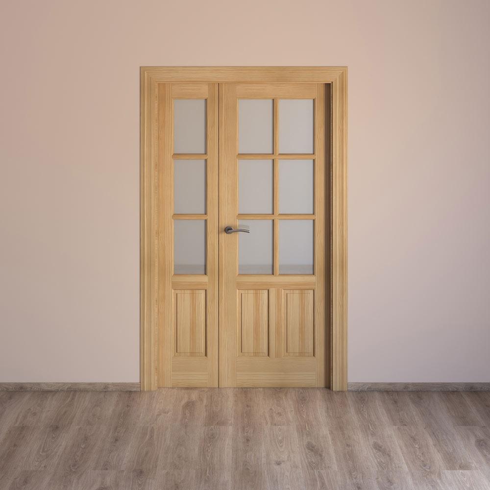 Puerta de interior con cristal m laga pino ref 15719991 - Puertas interior malaga ...
