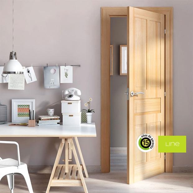 Puertas de interior de madera leroy merlin - Puertas color pino ...