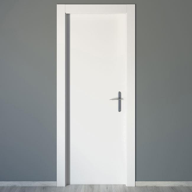 Puerta de interior mallorca blanca ref 16777432 leroy for Puertas de interior blancas
