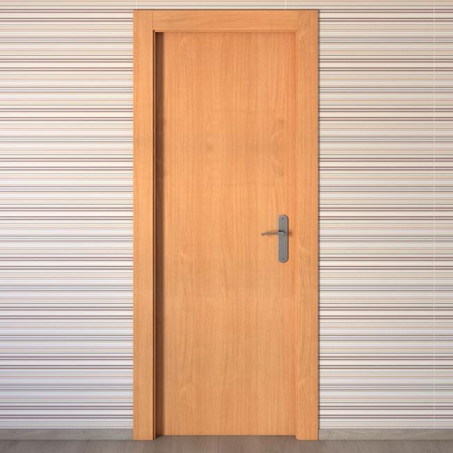 Puerta de interior mallorca haya ref 15721020 leroy merlin - Puertas de aluminio leroy merlin ...