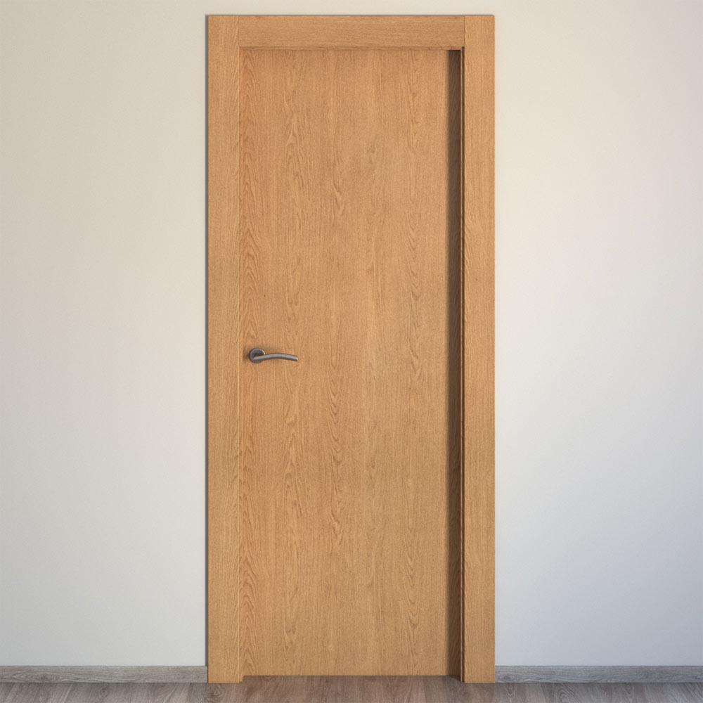 Puerta de interior mallorca roble ref 15721055 leroy merlin for Puertas leroy merlin