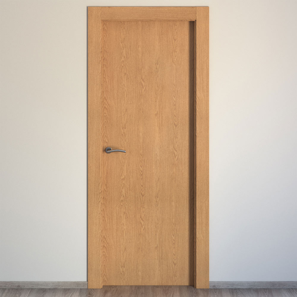 Puerta de interior mallorca roble ref 15721111 leroy merlin - Puertas de interior leroy merlin ...