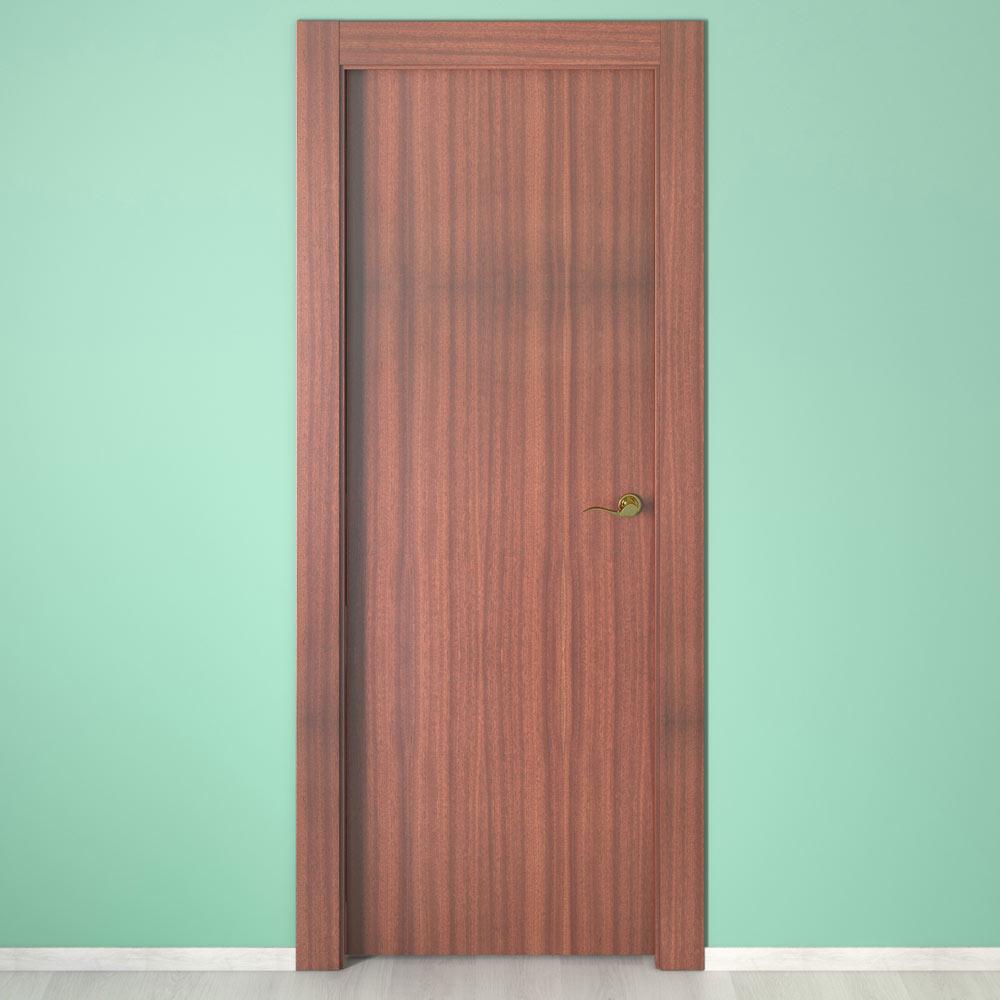 Puerta de interior mallorca sapelly ref 15720201 leroy for Puertas leroy merlin