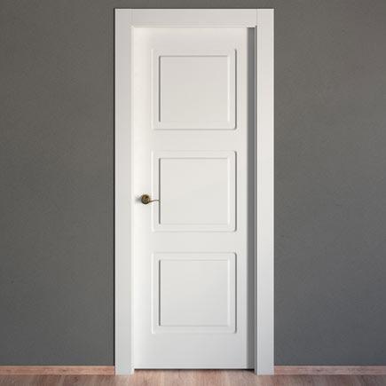 Puerta de interior maciza artens monaco blanca ref for Puertas de aluminio leroy merlin
