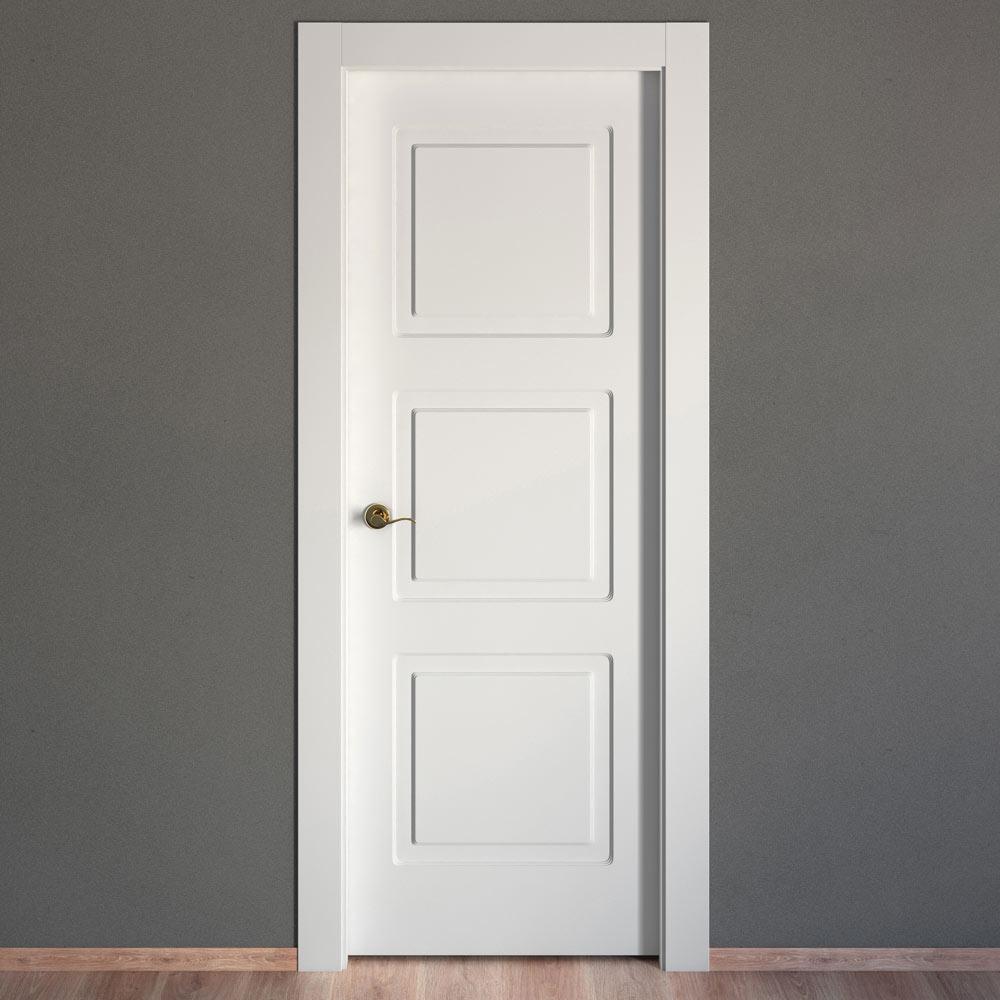 Puerta de interior maciza artens monaco blanca ref Precio puertas de paso