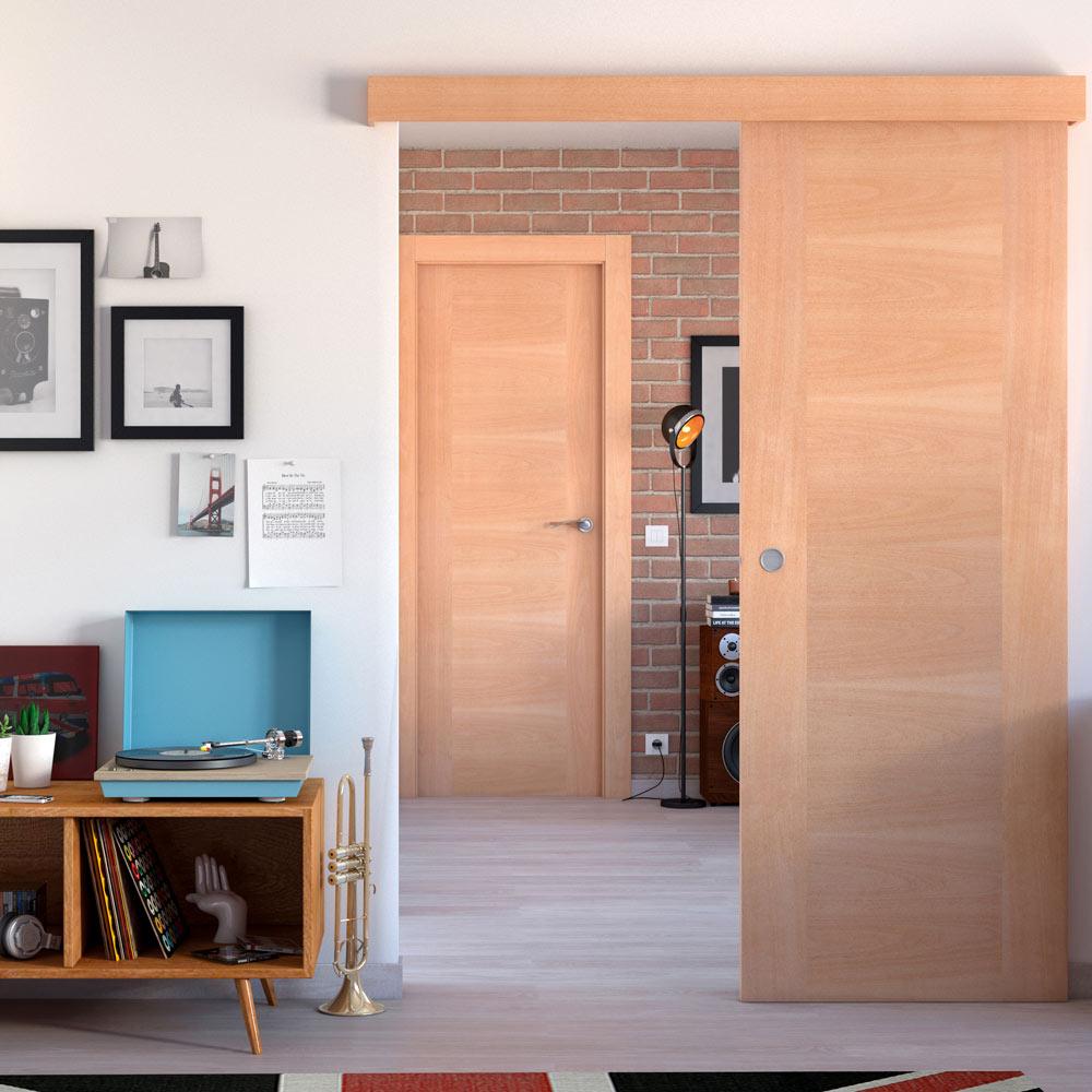 Puerta de interior maciza niza haya ref 16777782 leroy - Puertas exterior leroy ...