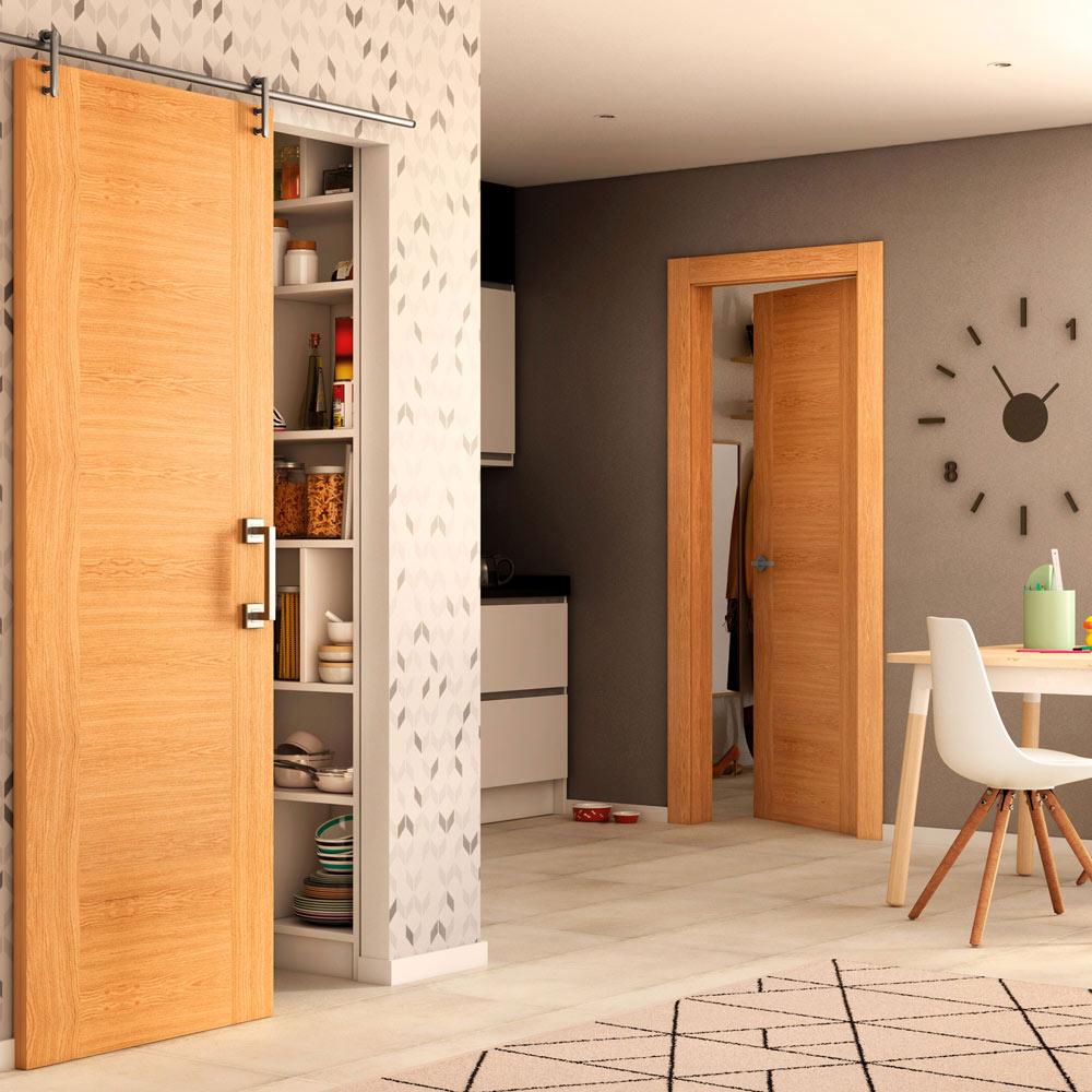 Puerta de interior maciza niza roble ref 15722602 leroy merlin - Puertas de interior de roble ...