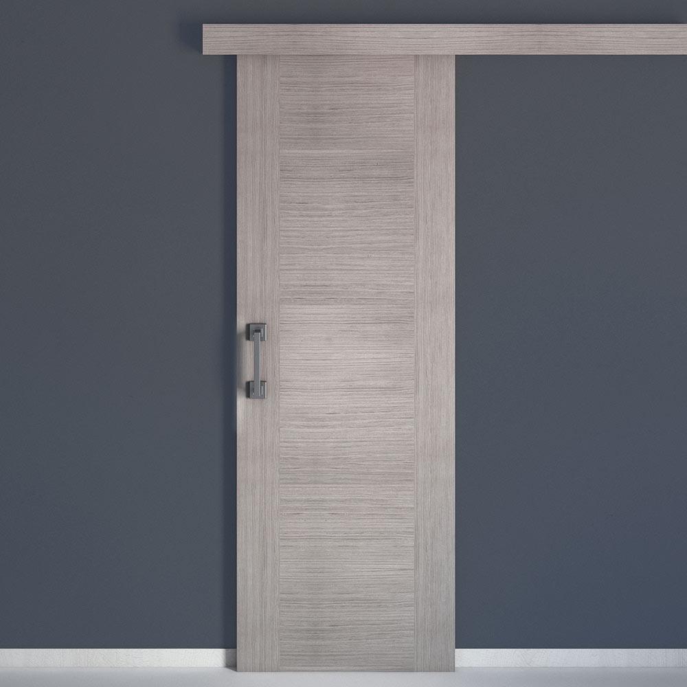 Puerta de interior niza roble gris ref 17843644 leroy for Puerta interior gris
