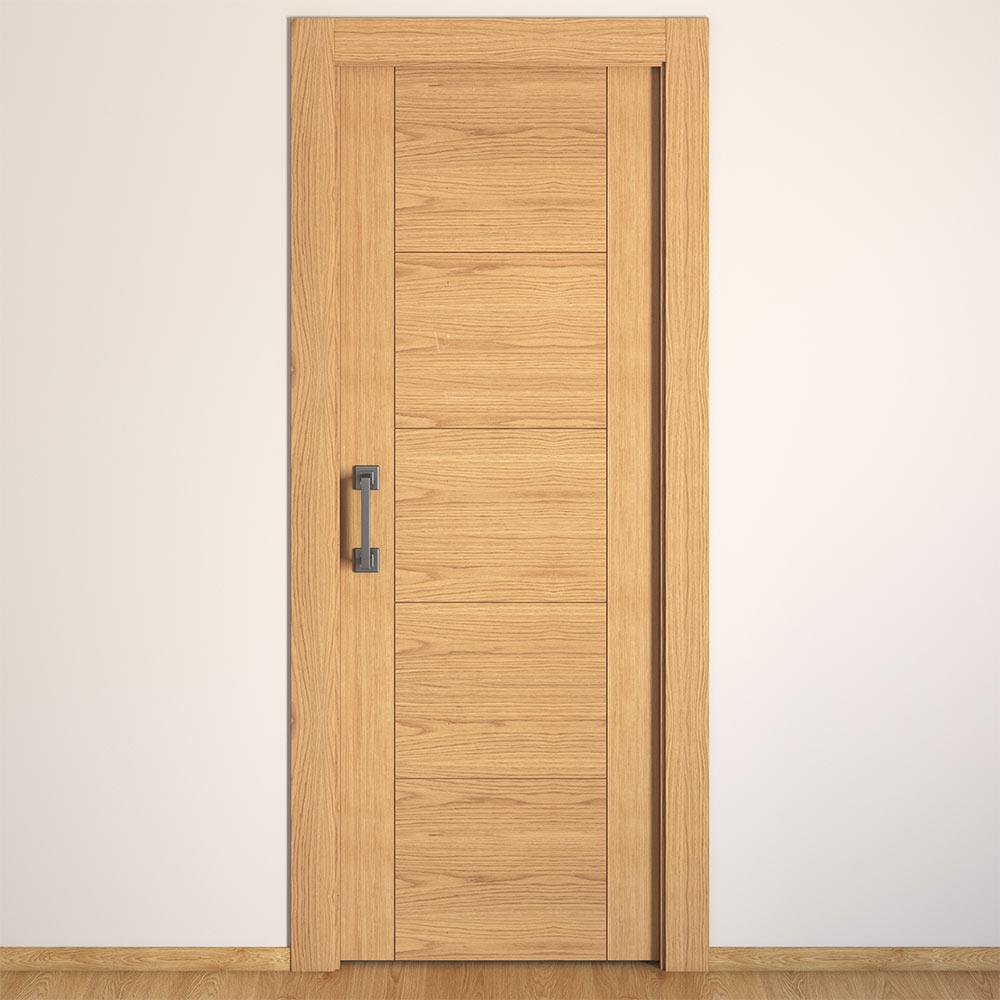Puerta de interior maciza noruega roble ref 16149700 - Cortinas para puertas leroy merlin ...