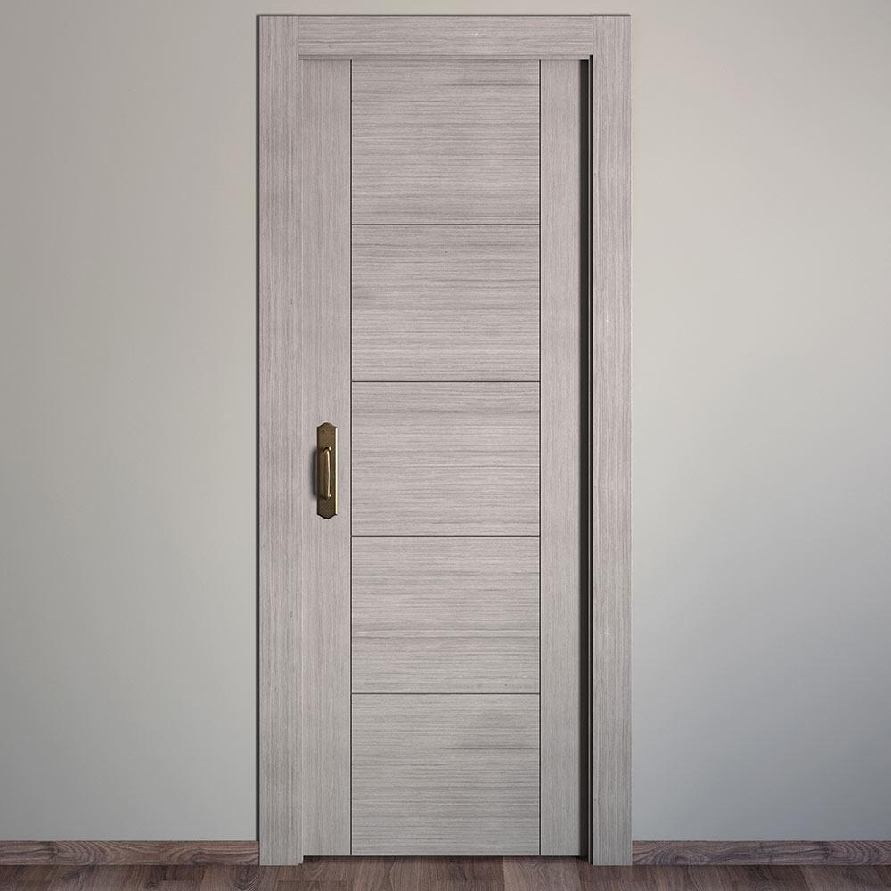 Puerta de interior maciza noruega roble gris ref 16780085 for Tapajuntas puertas leroy merlin