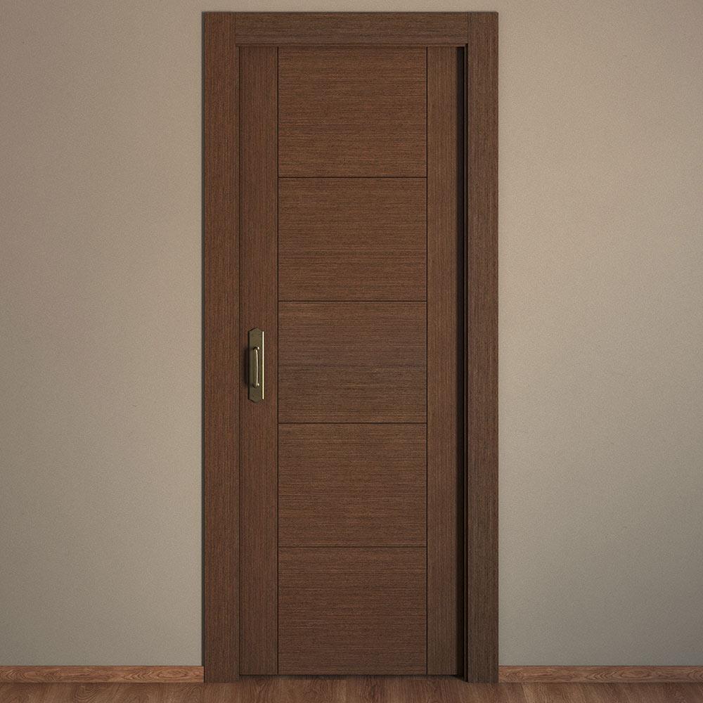 Puerta de interior maciza noruega wengue ref 16779742 for Puertas de madera para interiores